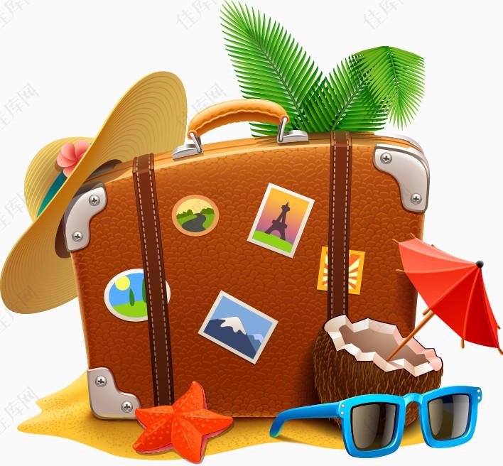假期热带旅游元素