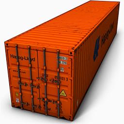 橙色创意集装箱免费下载 装饰元素 256像素 编号 Png格式 佳库网