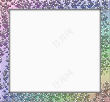 方形的闪闪发光的框