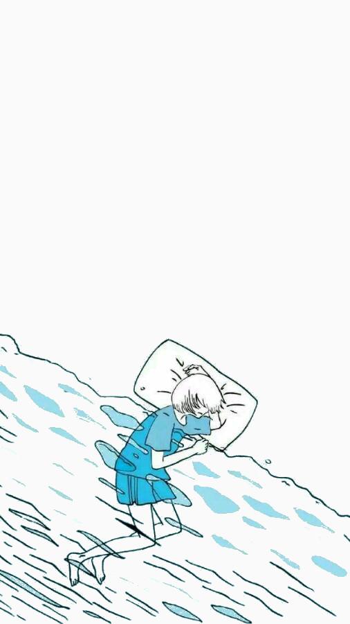 在海水里睡觉的人