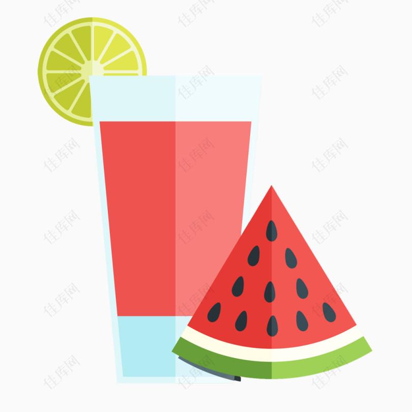 一杯西瓜汁