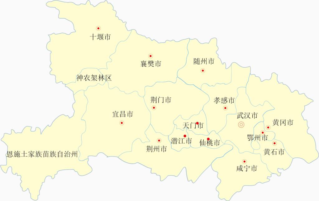 湖北省矢量地图