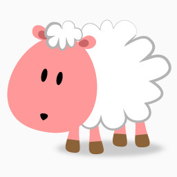 粉红小羊免费下载 装饰元素 256像素 编号 Png格式 佳库网