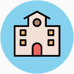 手绘建筑图片卡通素材免费下载 装饰元素 256像素 编号 Png格式 佳库网
