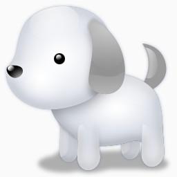 白毛的狗狗免费下载 装饰元素 256像素 编号 Png格式 佳库网
