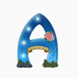 字母a免费下载 艺术字 256像素 编号 Png格式 佳库网