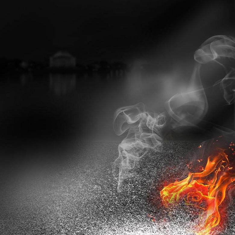 黑色烟雾火花背景