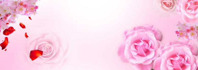 38妇女节大促浪漫温馨粉色小家电海报背景