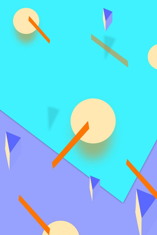 彩色几何创意广告背景素材