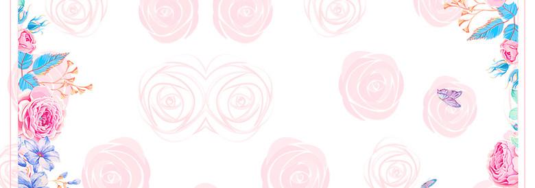 七夕浪漫情人节玫瑰底色背景