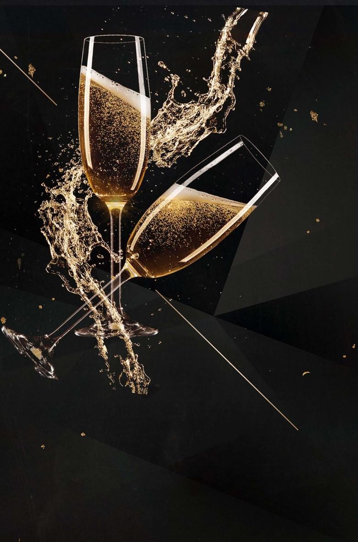 香槟酒会黑色纹理