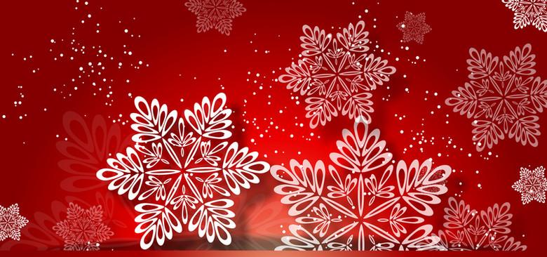 红色雪花背景