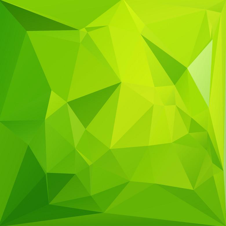 绿色多边形背景素材