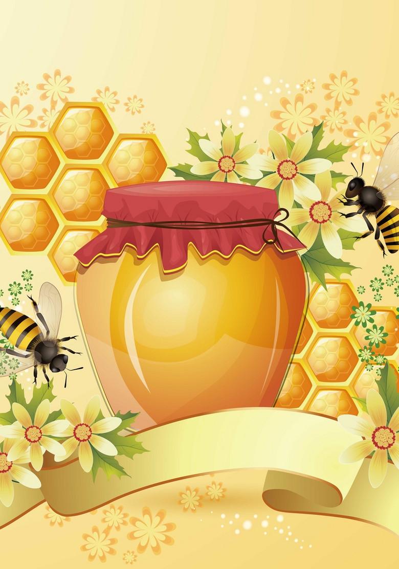 蜂蜜背景装饰