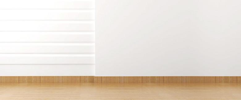 地板白墙背景