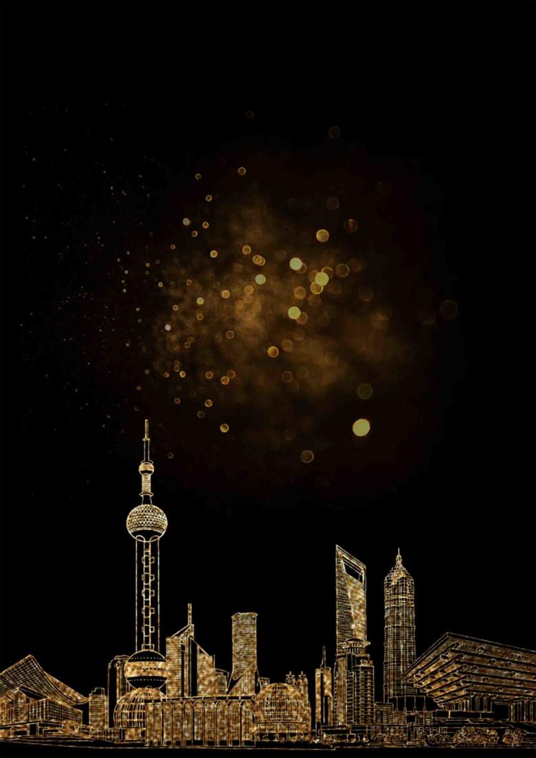 上海旅游宣传海报背景模板