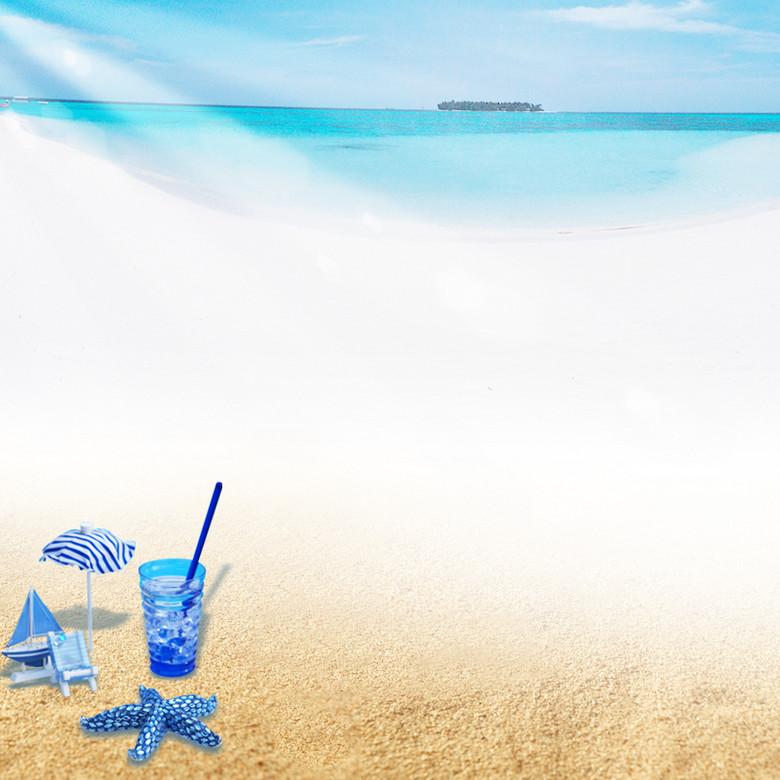 海滩简约背景图