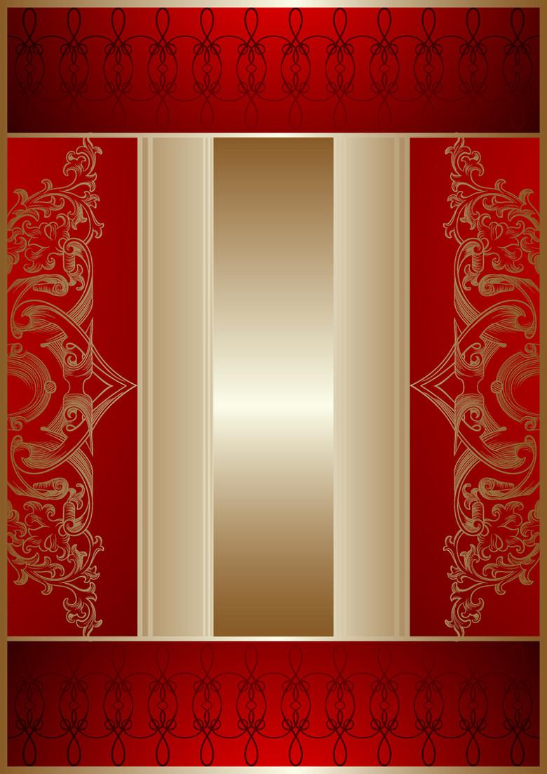 金色纹理质感红底背景