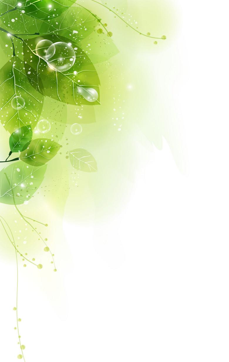 春天绿叶底纹背景