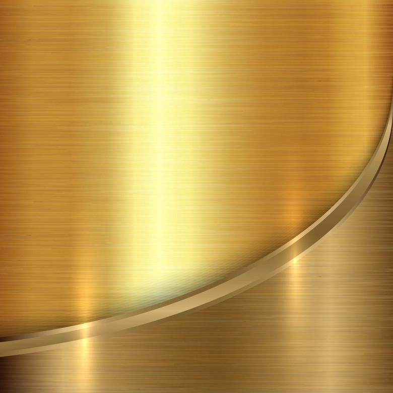 金色的金属纹理矢量背景素材