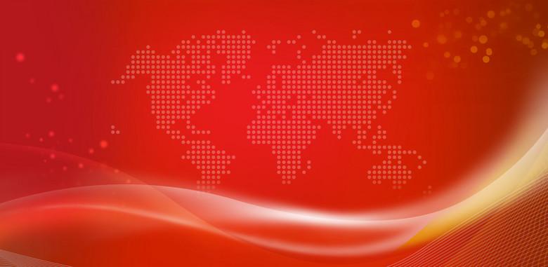 红色丝带背景
