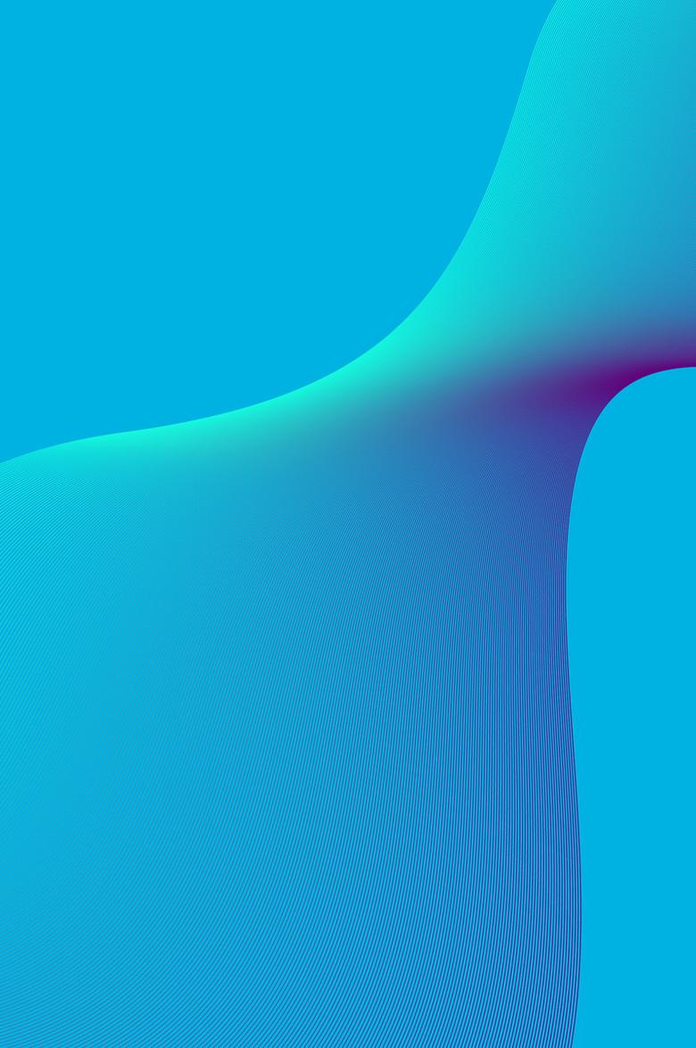 蓝色流体渐变风格浪漫唯美时尚渐变海报
