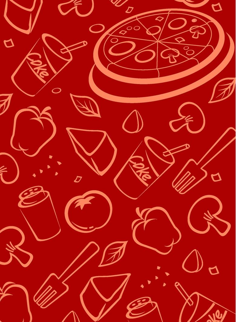 披萨美食海报背景素材