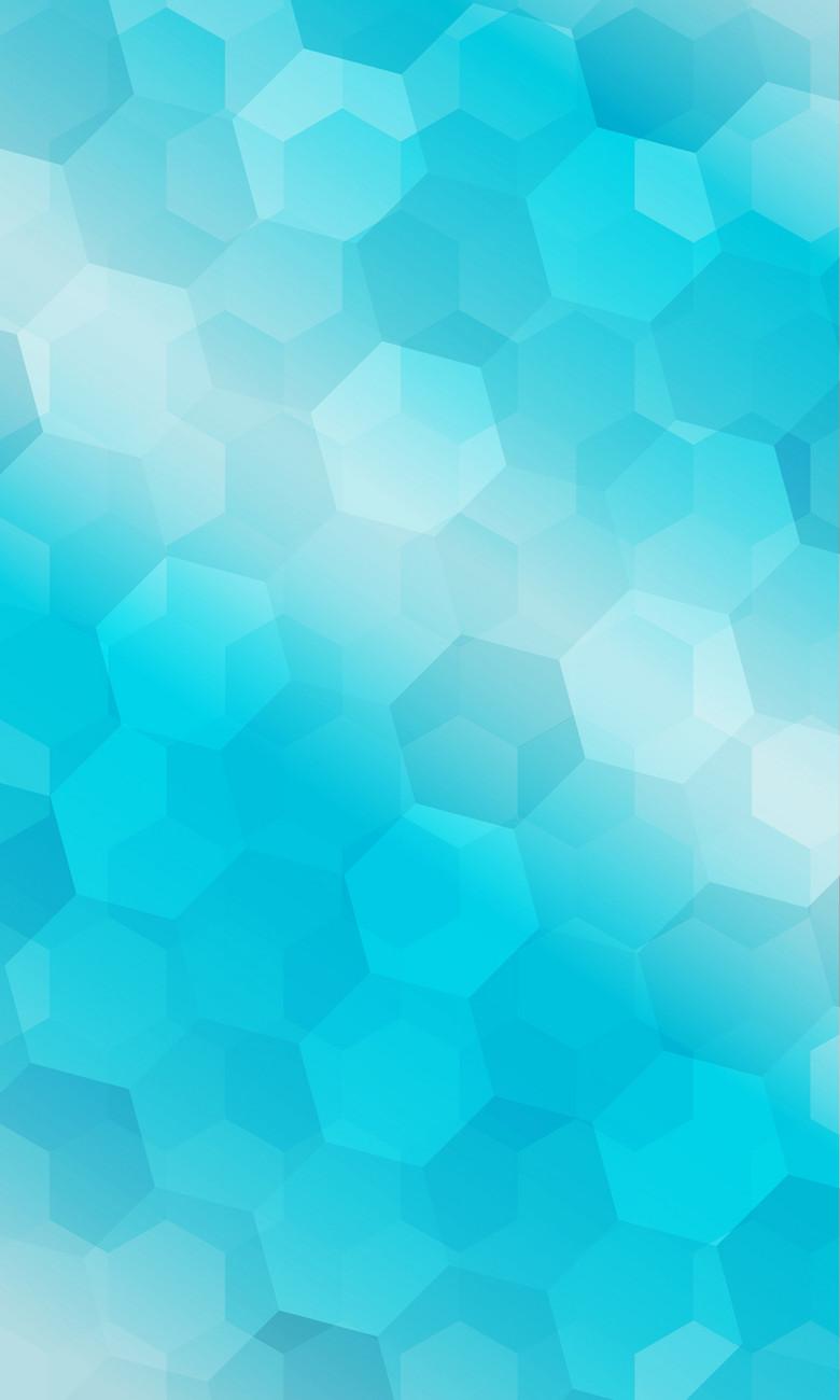 清湛蓝色蜂窝形几何梦幻背景