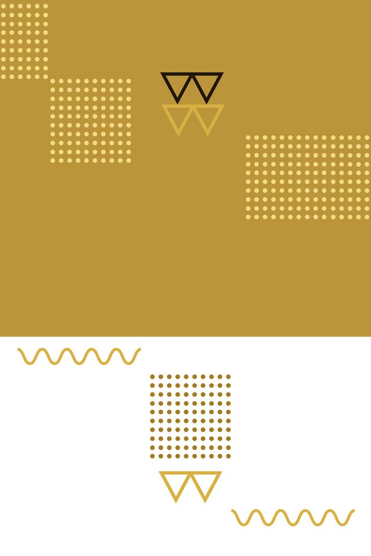 黄色孟菲斯花纹平面广告背景