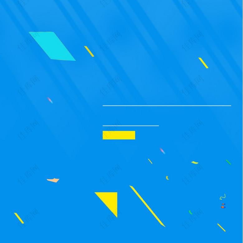 蓝色几何简约服装促销PSD分层主图背景