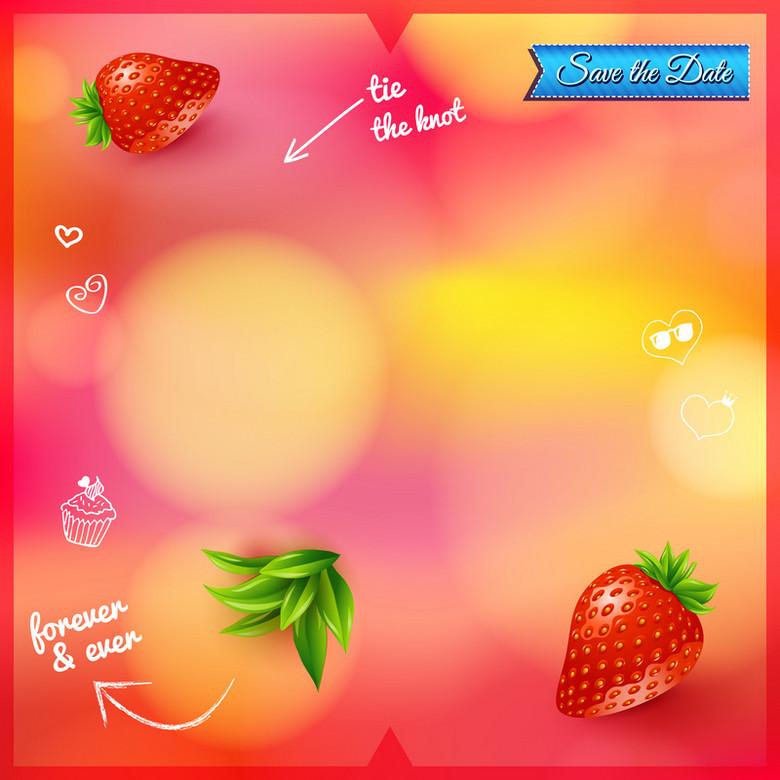 水果草莓渐变背景