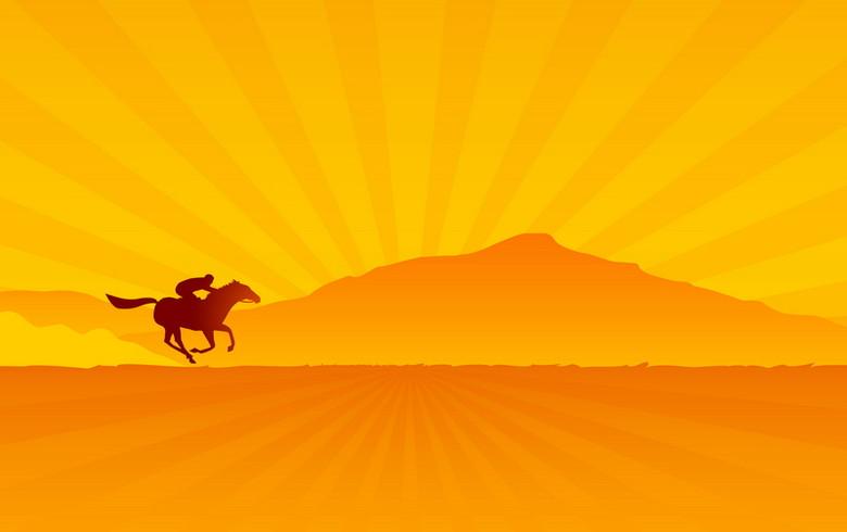 骑马背景模板