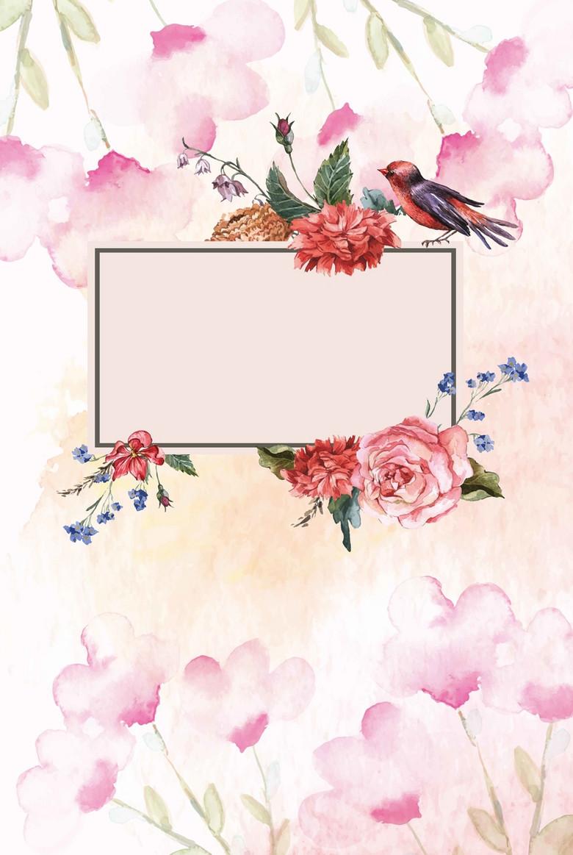 小清新鲜花店花坊促销海报背景模板