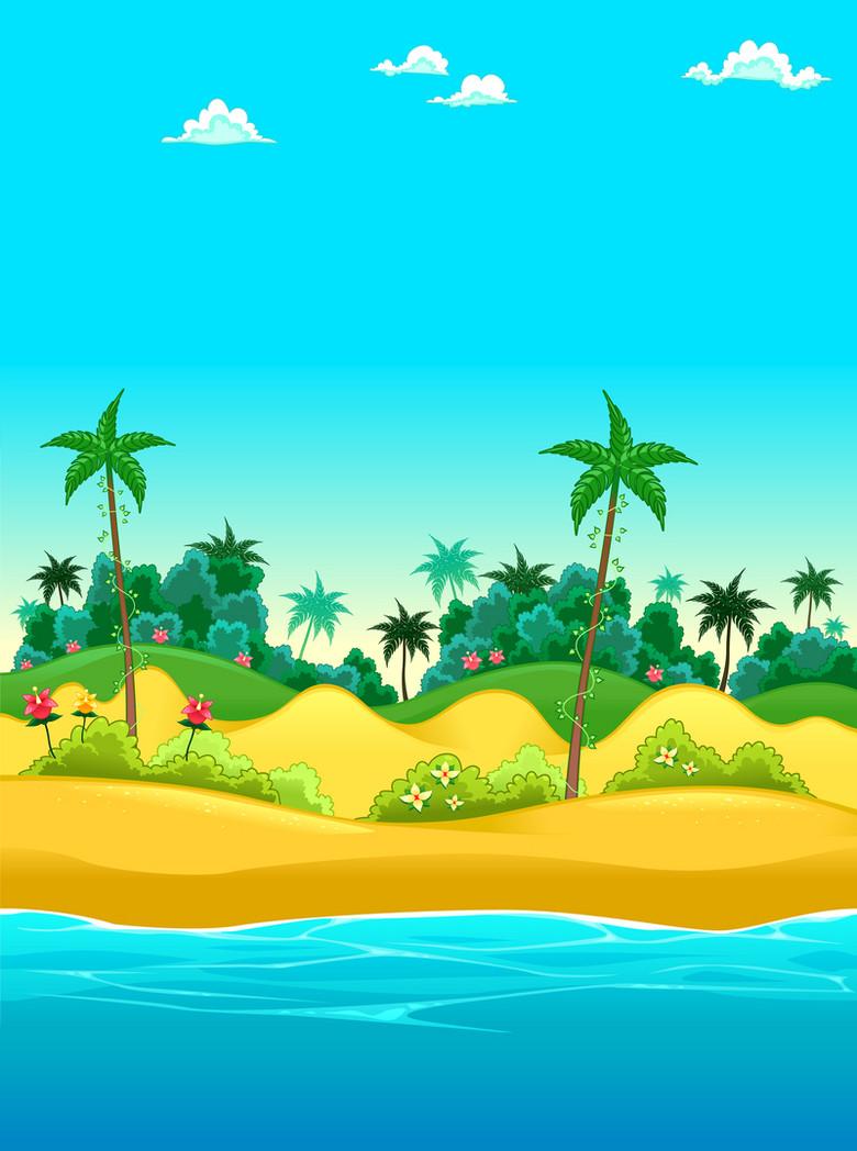 度假岛屿海报背景素材