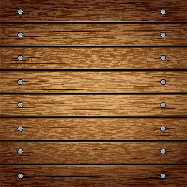 木板纹理铁钉质感背景
