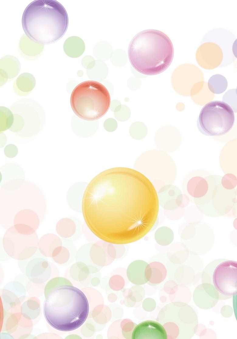 气泡背景模版