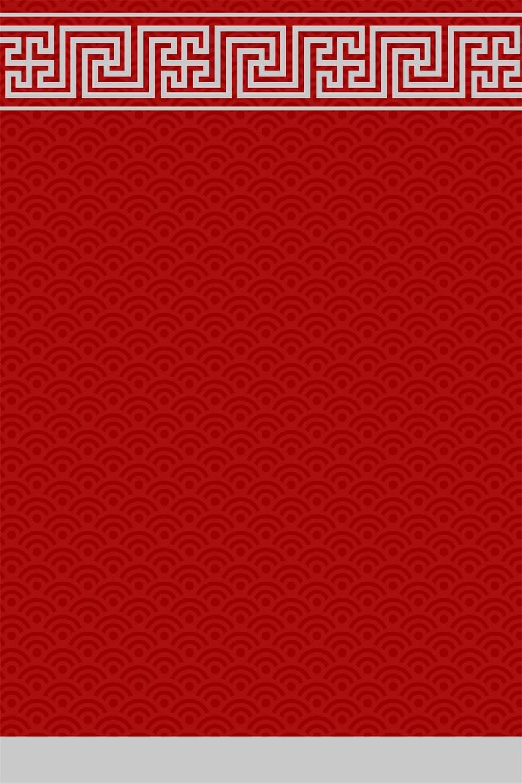 简约中国风红色祥云底纹海报背景设计