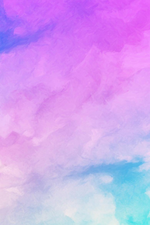 手绘紫色蓝色炫彩彩色水彩创意背景