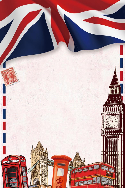 创意英国旅游海报