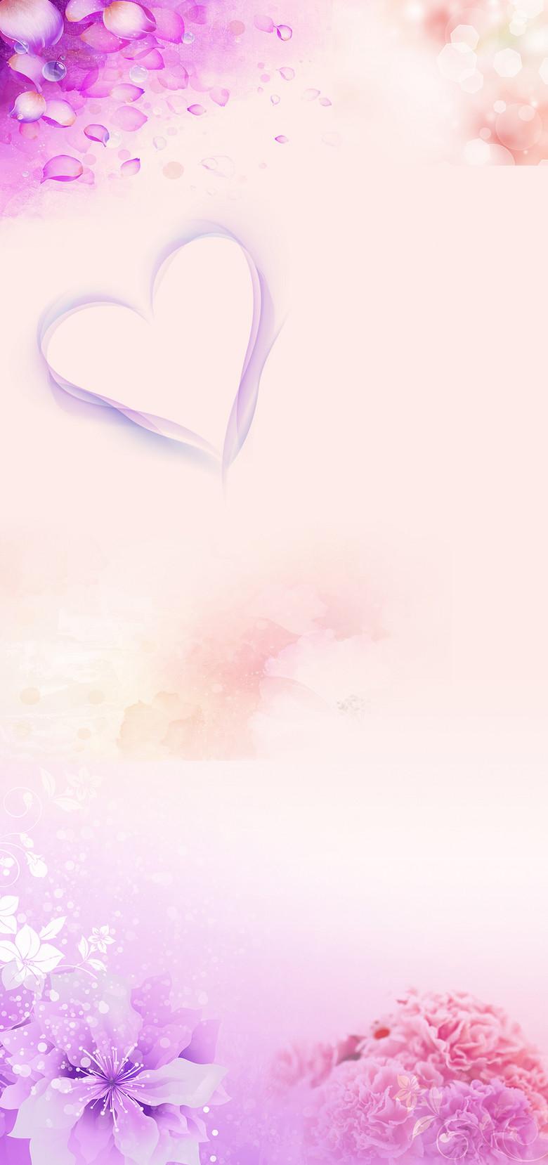 亲节母亲节展架展架模板促销展架蝴蝶花卉背