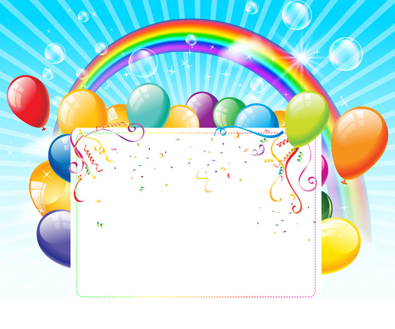 彩色气球彩虹背景素材