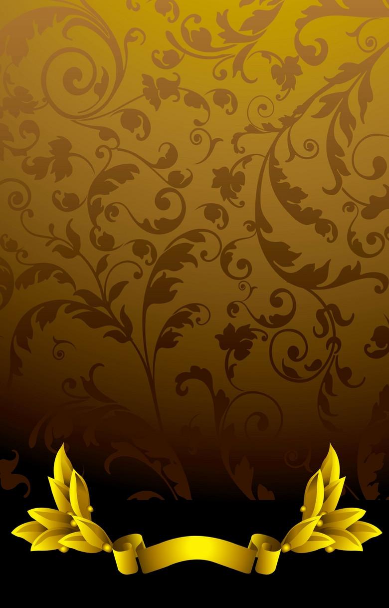 棕色花纹背景素材