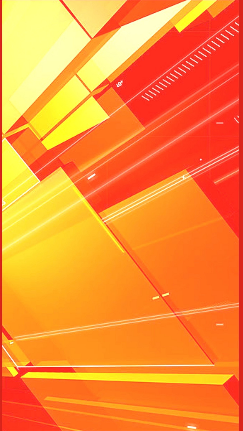 扁平红底科技感H5背景素材