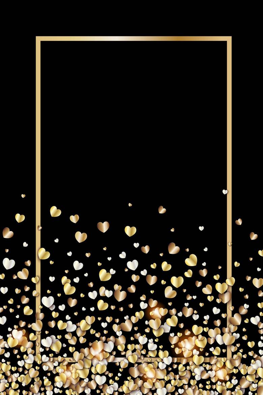 金色华丽爱心梦幻背景