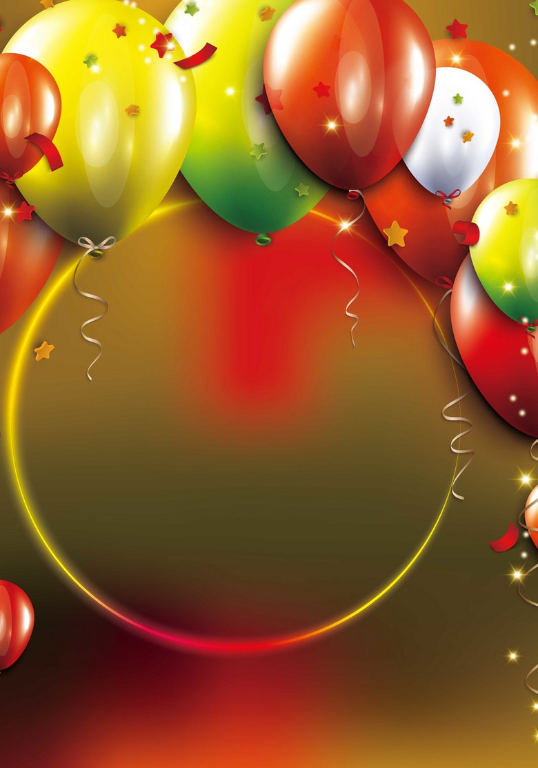 节日气球背景装饰