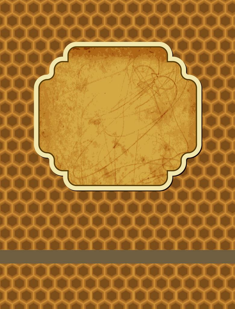 复古纸张标签蜂窝形纹理书籍封面背景