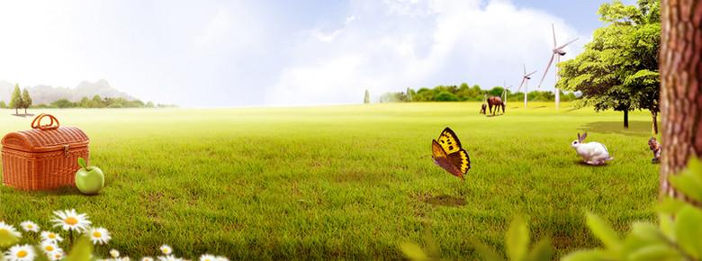 环保绿化家园背景