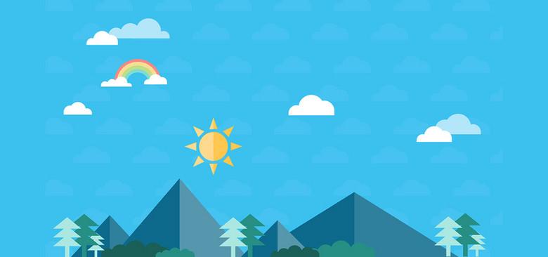 旅行计划几何卡通蓝色淘宝海报背景