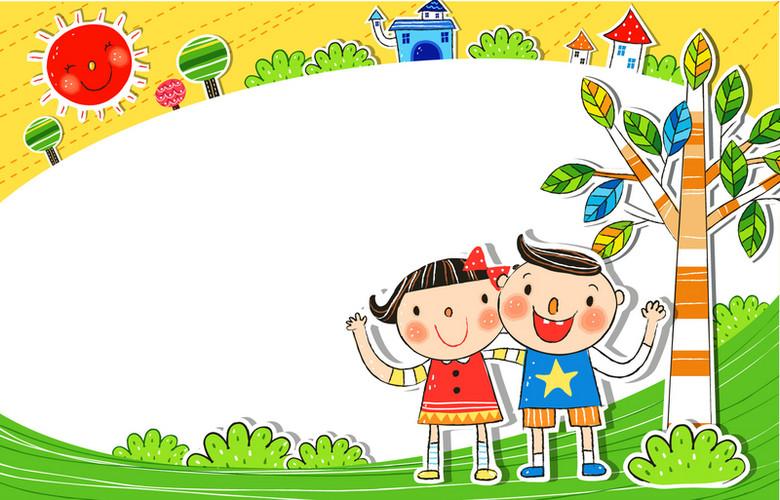 卡通学校儿童背景