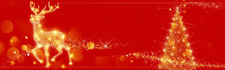 圣诞节红色大气banner